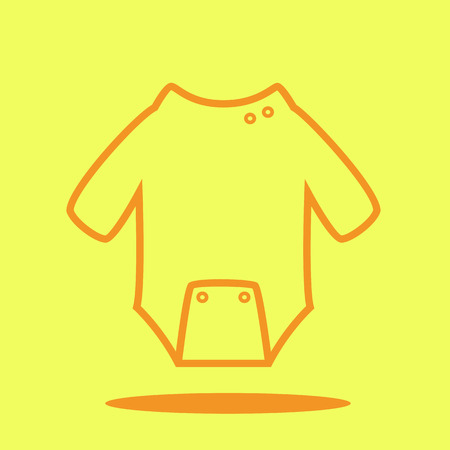 Baby suit cute icon in trendy flat style isolated on color background. Baby symbol for your design, UI.