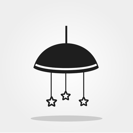 Baby toys cute icon in trendy flat style isolated on color background. Baby symbol for your design, UI.