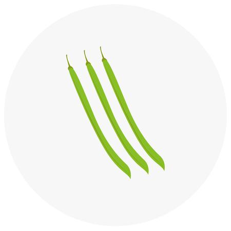 Lange Bohnen Symbol in trendigen flachen Stil isoliert auf schwarzem Hintergrund. Standard-Bild - 67304374