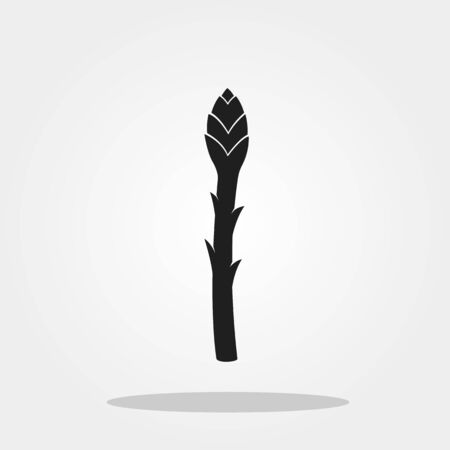 Asparagus icon in trendy flat style isolated on color background.