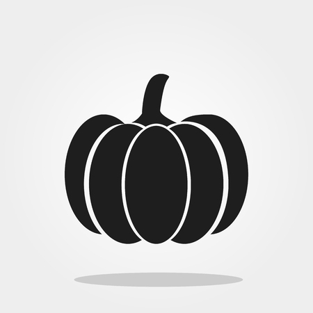 Pumpkin  icon in trendy flat style isolated on color background.