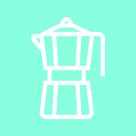 Moka pot icon in trendy flat style isolated on grey background. Illustration