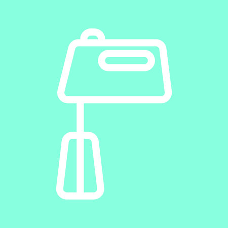 Hand mixer icon in trendy flat style isolated on grey background.