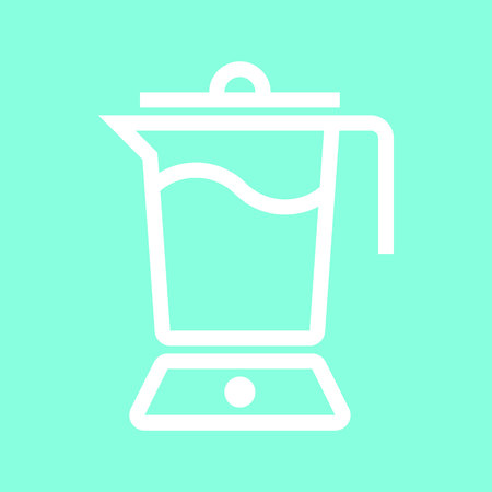 Blender icon in trendy flat style isolated on grey background.