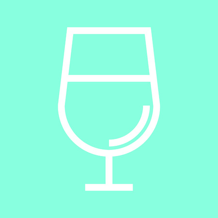 scotch: Cognac glass icon in trendy flat style isolated on grey background.
