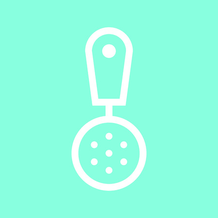 Strainer fry icon in trendy flat style isolated on grey background.