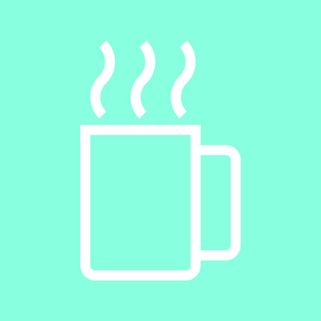 Mug icon in trendy flat style isolated on grey background. Kitchen symbol for your design Illustration