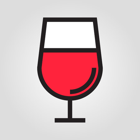 scotch: Cognac glass icon in trendy flat style isolated on grey background. Kitchen symbol for your design
