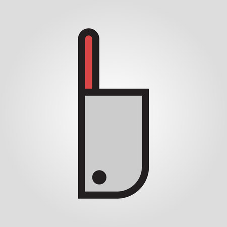 Chopping knife icon in trendy flat style isolated on grey background.