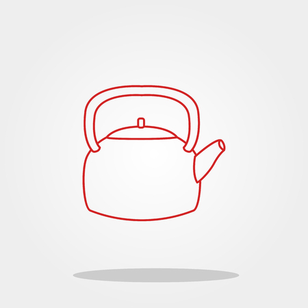 gas stove: Kettle icon in trendy flat style. Illustration