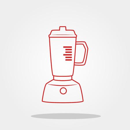 Blender icon in trendy flat style. Illusztráció