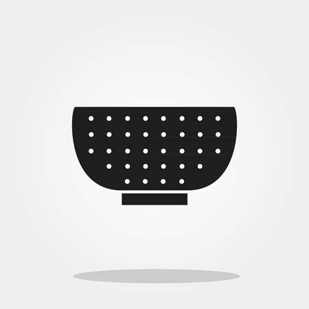 Colander icon in trendy flat style.