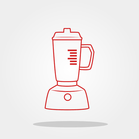 Blender cute icon in trendy flat style isolated on color background. Kitchenware symbol for your design