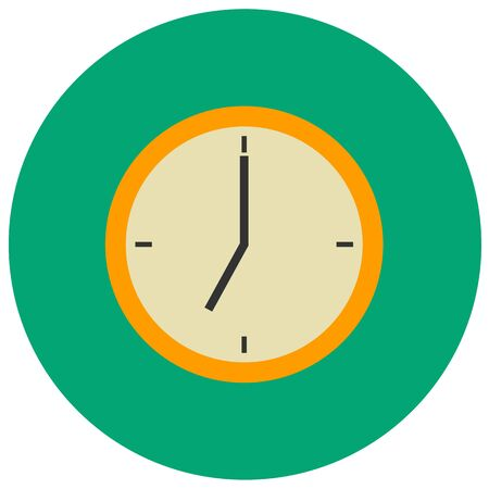 Clock cute icon in trendy flat style isolated on grey background. School symbol for your design, logo, UI. Vector illustration, EPS10.