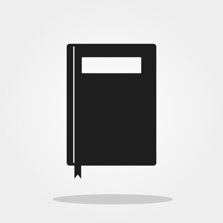 diary: Note book cute icon in trendy flat style isolated on grey background. School symbol for your design, logo, UI. Vector illustration, EPS10.