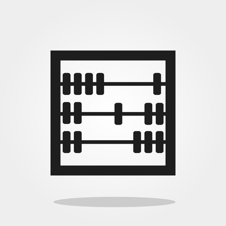 Abacus cute icon in trendy flat style isolated on grey background. School symbol for your design, logo, UI. Vector illustration, EPS10.