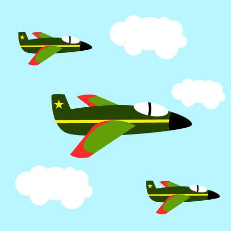 Air force patrol military for child and kid cartoon illustration flat Illustration