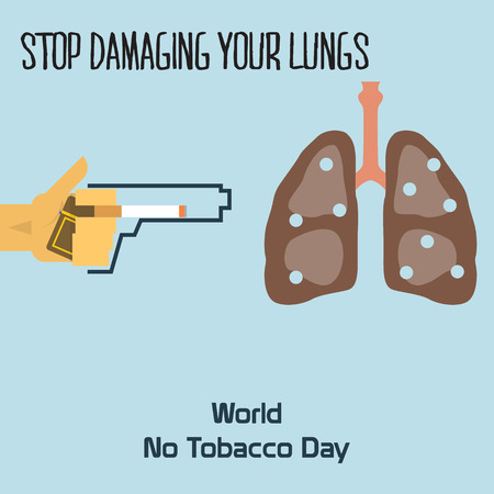 World no tobacco day celebation, sign for remembrance design illustration flat cute cartoon 31 may trend popular