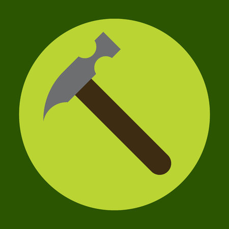 claw hammer: Hammer icon in trendy flat style isolated on grey background. Construction symbol for your design, logo, UI. Vector illustration, EPS10.