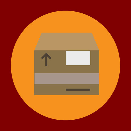 Box package icon in trendy flat style isolated on grey background. Delivery symbol for your design, logo, UI. Vector illustration, EPS10.