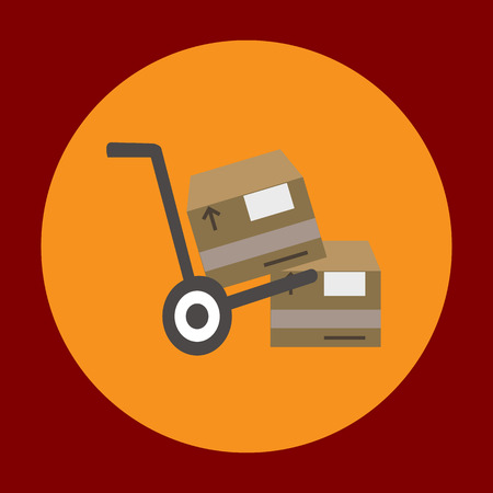 moving in: Moving package icon in trendy flat style isolated on grey background. Delivery symbol for your design, logo, UI. Vector illustration, EPS10.