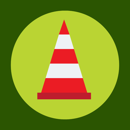 Traffic cone icon in trendy flat style isolated on grey background. Construction symbol for your design, logo, UI. Vector illustration, EPS10. Illustration