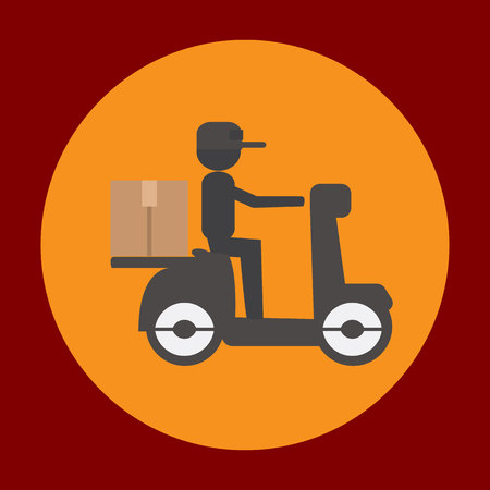 Delivery package icon in trendy flat style isolated on grey background. Delivery symbol for your design, logo, UI. Vector illustration, EPS10.