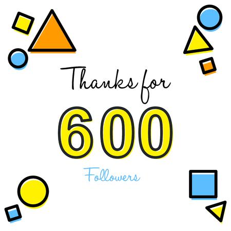 Thank you greeting card for social media followers vector illustration 向量圖像