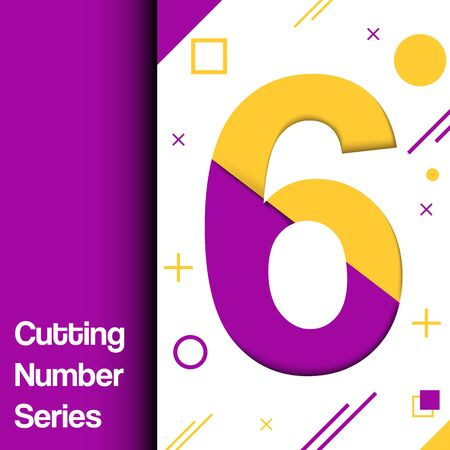 Colorful and dynamic numbers for any use in media illustration.