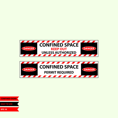 Confined sign in vector syle version, easy to use and print Vettoriali