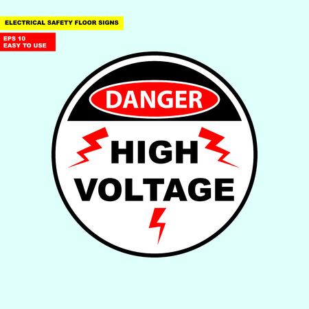 Danger high voltage sign Archivio Fotografico - 98966512