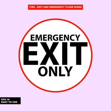 Emergency exit sign Illustration