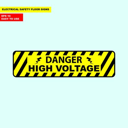 Danger high voltage sign Archivio Fotografico - 98966508
