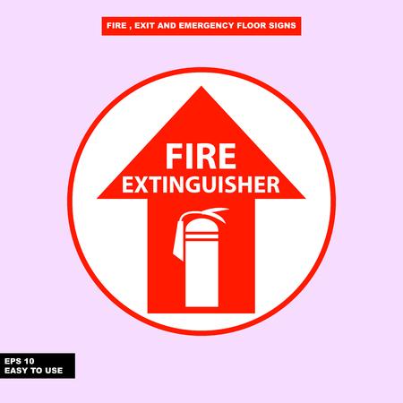 Fire Extinguisher sign Vettoriali