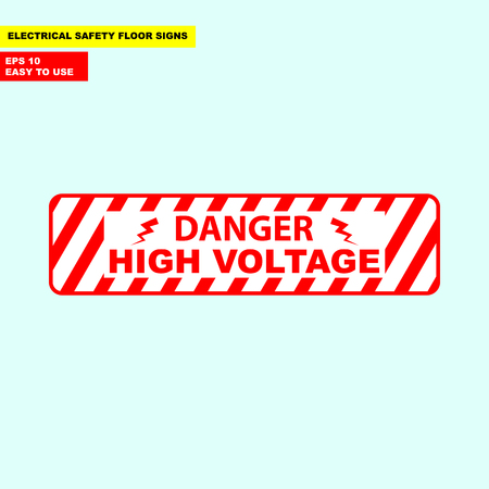 Danger high voltage sign Stok Fotoğraf - 98966523