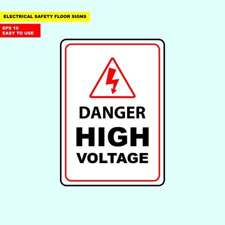Danger high voltage sign Stok Fotoğraf - 98966735