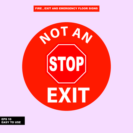 Not an exit sign Illustration