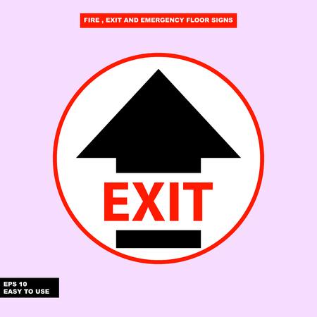 Exit way arrow sign