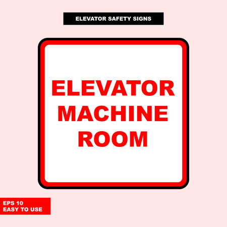 Elevator sign in vector style version, easy to use and print Archivio Fotografico - 101093136