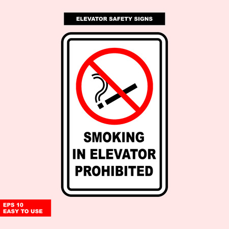 Elevator sign in vector style version, easy to use and print Archivio Fotografico - 101093148
