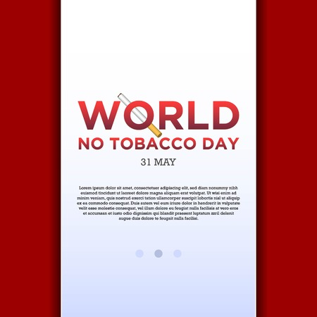 World No Tobacco Day illustration for Concept Stop Smoking and lung disease