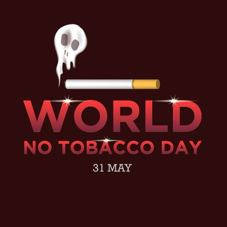 World No Tobacco Day illustration for Concept Stop Smoking and lung disease Archivio Fotografico - 101662483