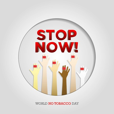 World No Tobacco Day illustration for Concept Stop Smoking and lung disease Archivio Fotografico - 101662484