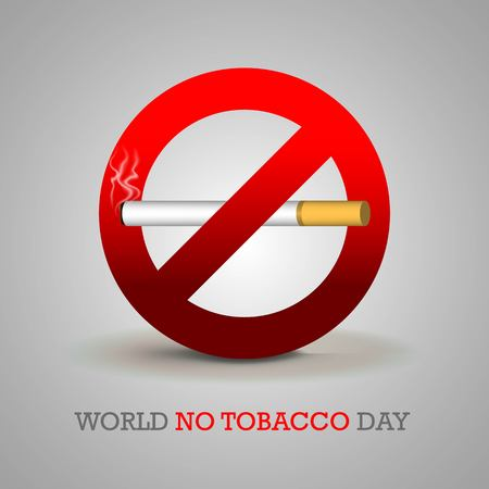 World No Tobacco Day illustration for Concept Stop Smoking and lung disease Archivio Fotografico - 101691424