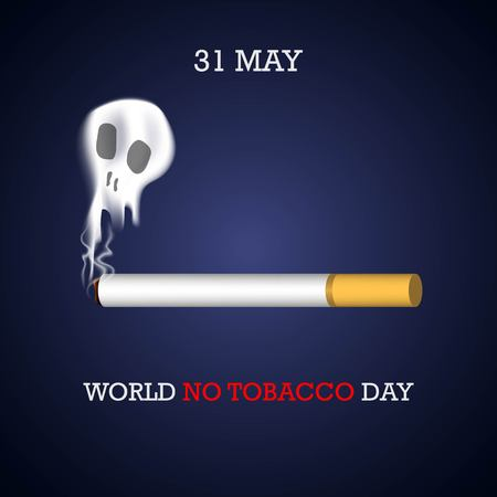 World No Tobacco Day illustration for Concept Stop Smoking and lung disease Archivio Fotografico - 101698436