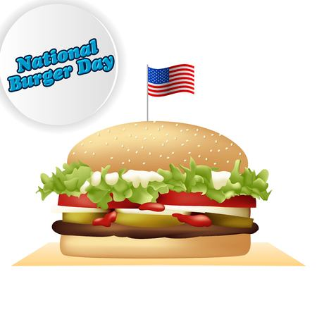 National burger day vector illustration for greeting card, poster and banner