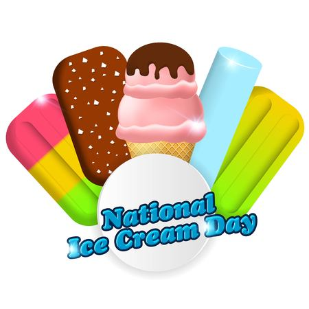 National ice cream day vector illustration for greeting card, poster and banner