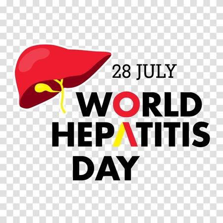 Vector illustration of World Hepatitis Day for banner and poster social media template Illustration