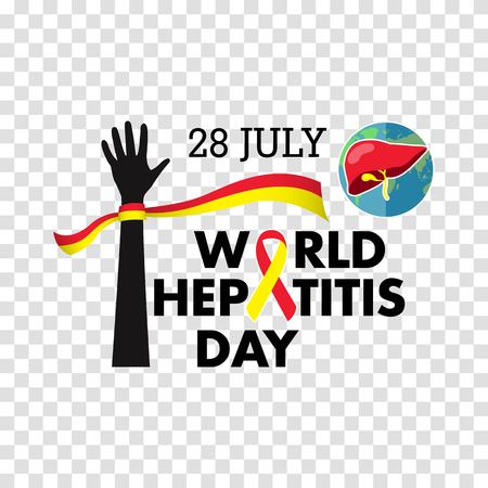 Vector illustration of World Hepatitis Day for banner and poster social media template Archivio Fotografico - 104270257