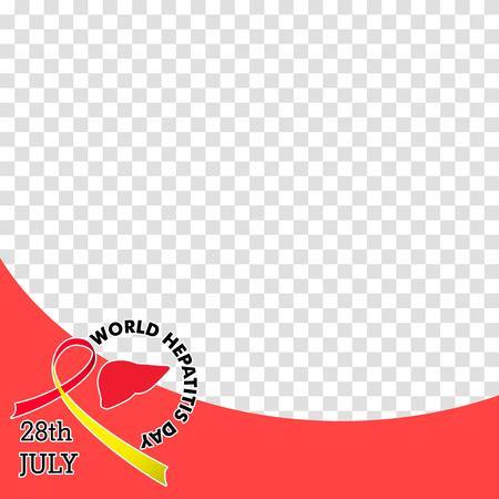 Vector illustration of World Hepatitis Day for banner and poster social media template 矢量图像